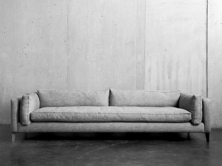 Montauk Sofa, Harris Sofa. I like that this is clean yet cozy enough to hint at traditional.