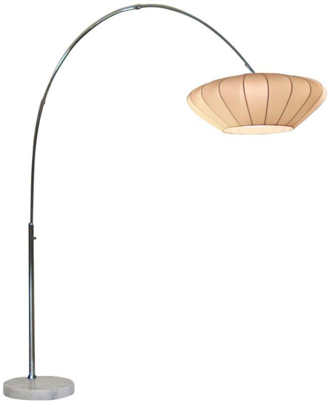 cloud chrome 84inchh nova arc floor lamp