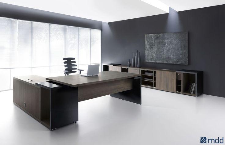 Bureau de direction / en plaqué bois / contemporain / professionnel - MITO by Simone Bernocchi - MDD