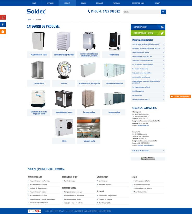 Soldec Romania - web design