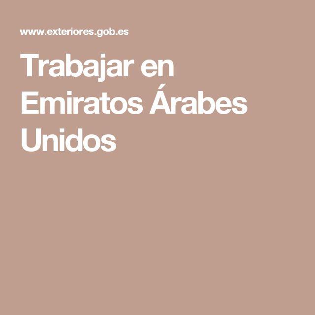 Trabajar en Emiratos Árabes Unidos