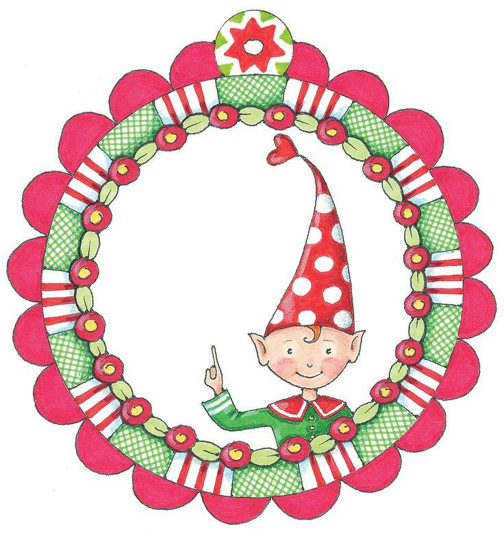 ce gentil elfe sera aussi joli sur vos cadeaux que sur vos créations... autre idée : accompagné de ses amis, le Père Noël et un bonhomme de neige, suspendez-le dans le sapin, ou créez une guirlande qui décorera la maison pendant les Fêtes !...