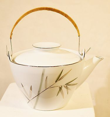 Noritake Bambina Teapot Asian Bamboo Pattern