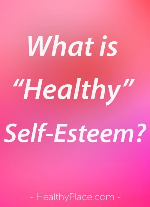 healthy do it yourself esteem