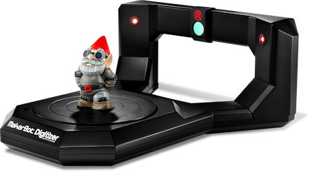 This desktop 3D scanner quickly and easily turns the things in your world into 3D designs you can share and print. Get it at MakerBot.
