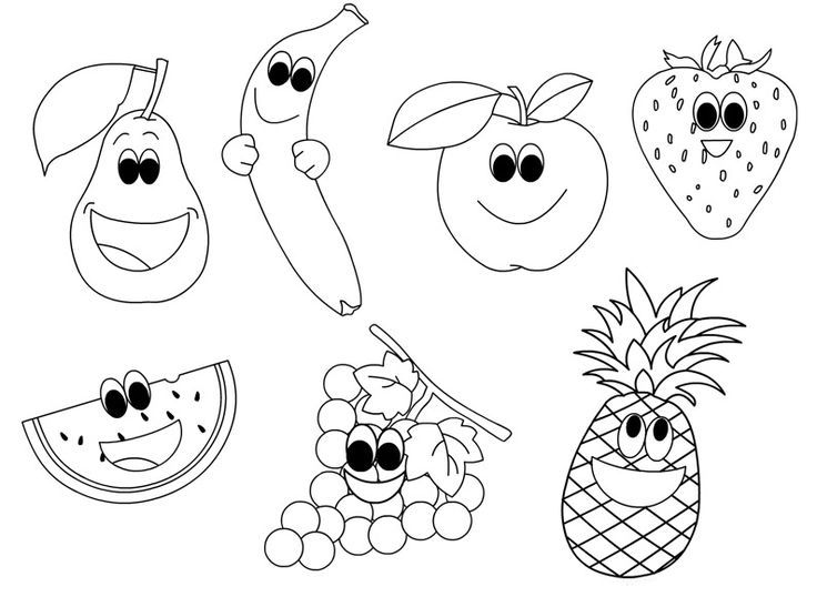 Coloring Book Fruits And Vegetables