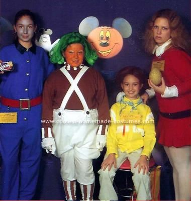 Homemade Willy Wonka Group Halloween Costume: We dressed up as characters from the original Willy Wonka film to attend Mickey's Not-So-Scary Halloween Party at Disney World.  I went thrift store-shopping