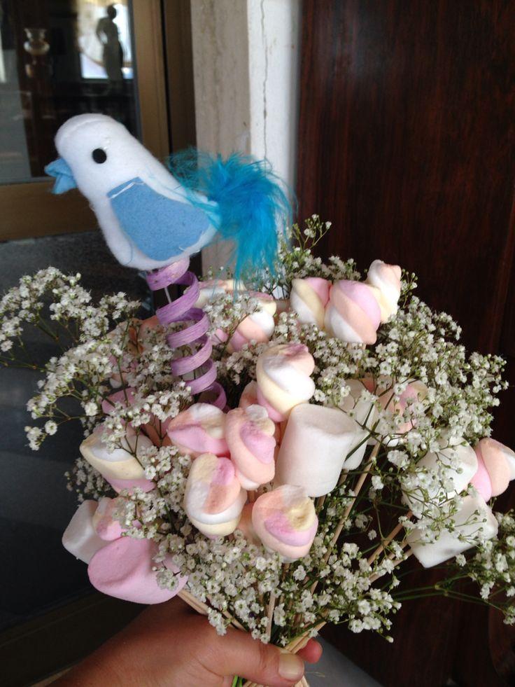 Addio al nubilato  Bouquet con caramelle