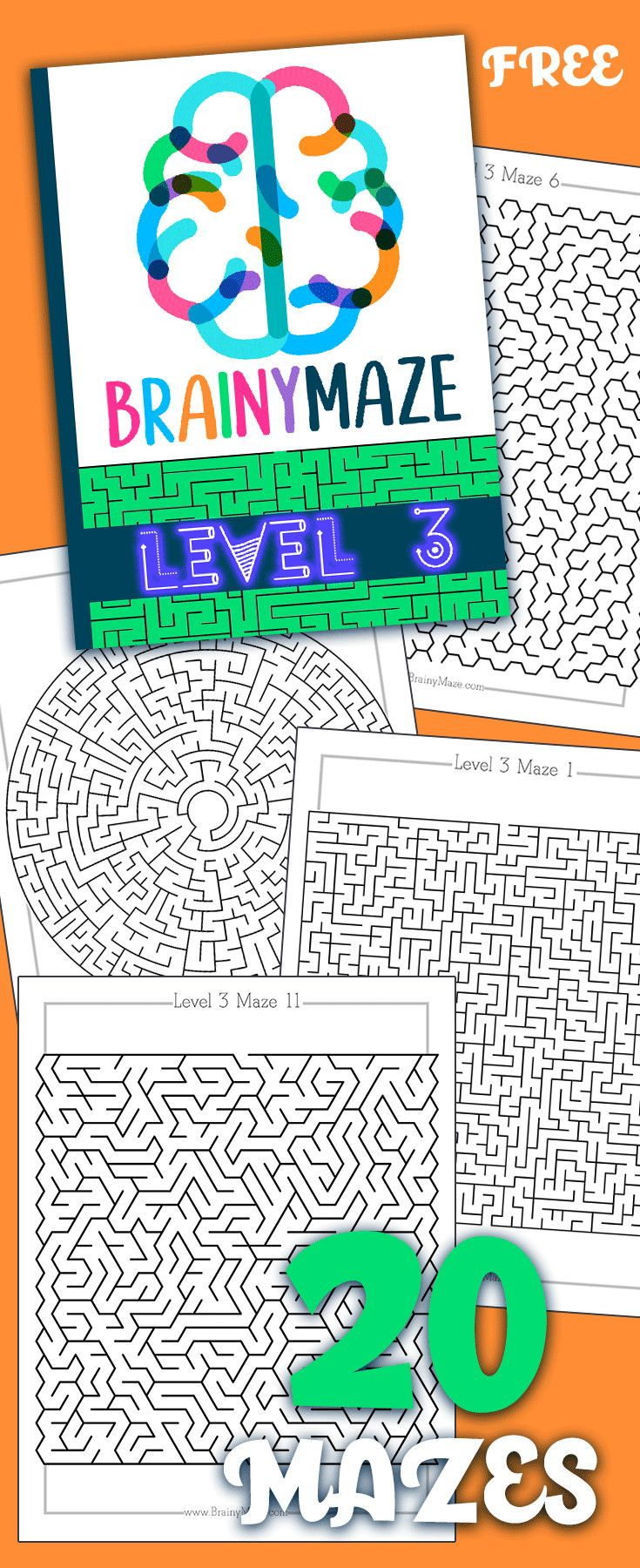Free Mazes! Print these free mazes from home, perfect for preschool ...