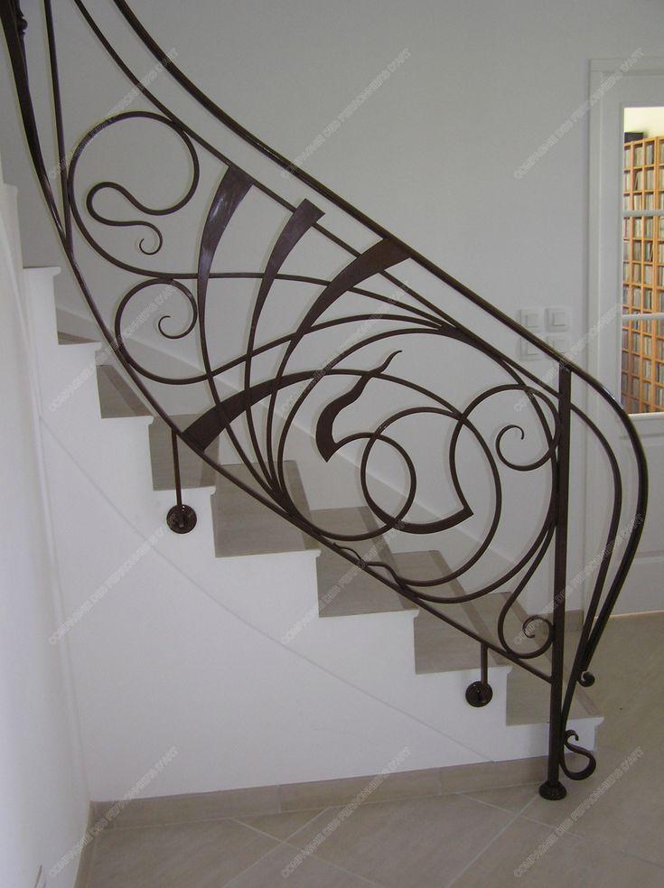 Les 25 meilleures id es de la cat gorie rampe escalier fer forg sur pinterest balustrades en for Balustrade fer forge