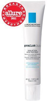 La Roche-Posay Effaclar Duo Dual Action Acne Treatment, 1.35 Fluid Ounce by La Roche-Posay. $19.00. Suitable for all skin types. Fast-absorbing; elegant texture. Dual action treatment reduces the number and severity of breakouts, improves pore size with minimal irritation. Non-drying; non-comedogenic; oil-free; fragrance free. Fomulated with 5.5% Micronized Benzoyl Peroxide to reduce inflammation while minimizing irritation and micro-exfoliating LHA 0.4% to exfoliate and smoot...