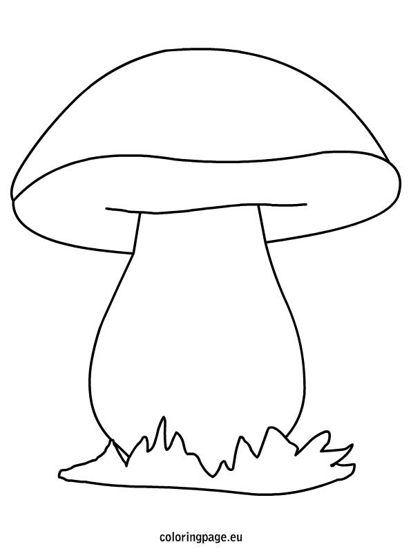 Mushroom coloring page, draw in yourself/ your own animal