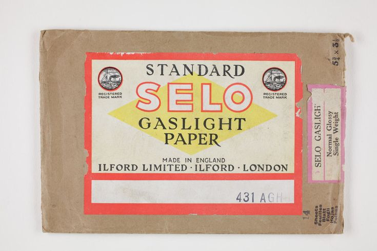 Photographic Paper, Ilford Ltd, 'Standard Selo Gaslight Paper', c1930s