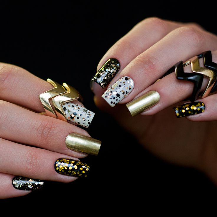 "I hate to paint my nails: Dance Legend Steel Collection 856 ""stylet"" (Gold/black в нескольких вариациях)"
