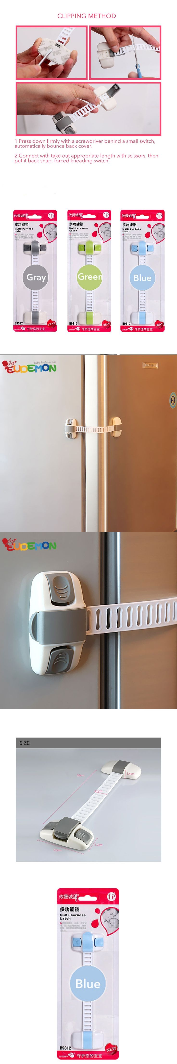 Baby Safety Lock Children Door Lock Baby Infant Protection Sliding Door Safety Cabinet lock Refrigerator Lock
