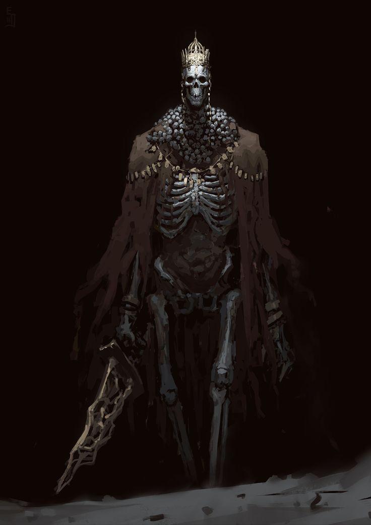 Dark Souls Character Design Process : Artstation high lord wolnir edward delandre concept