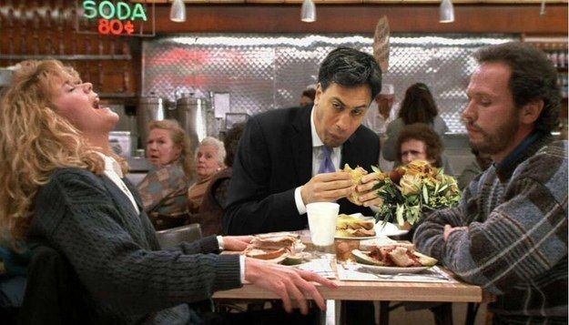Thanks to the internet and @GeneralBoles there was only way this was going to go, especially when Ed met Harry and Sally. | Ed Miliband Ate A Bacon Sandwich And Accidentally Created A Meme