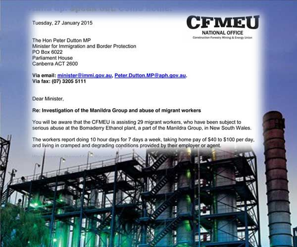 National Disgrace: CFMEU Forces Govt To Investigate $4 An Hour Foreign Workers | newmatilda.com