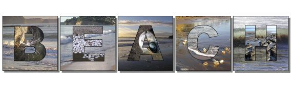 Beach word art prints ocean sea side photography by NewCreatioNZ, $20.00