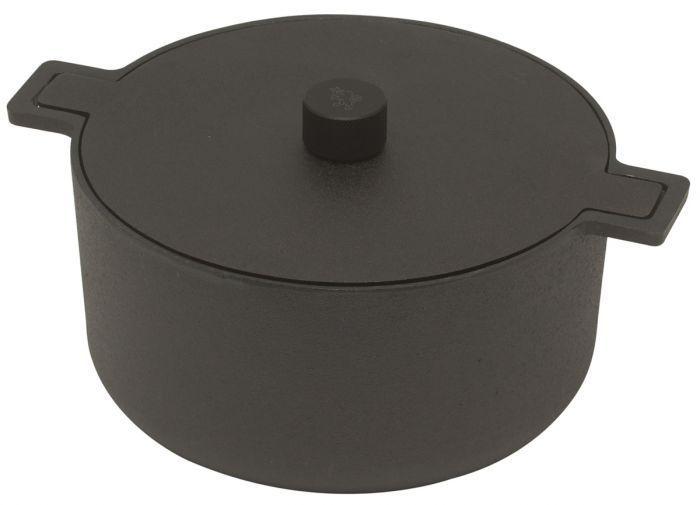 Skeppshult Noir braadpan rond ø 26 cm 5 liter gietijzer zwart - Braadpannen - Alle pannen - Pannen - Kookwinkel Oldenhof