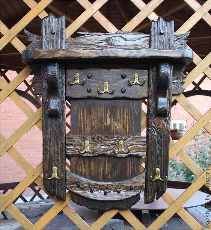 Купить Вешалка № 3 и № 4 в старинном стиле - вешалка, прихожая, для бани