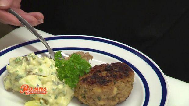 Würzige Buletten und dazu Kartoffelsalat mit selbst gemachter Mayonnaise, wer kann da widerstehen?