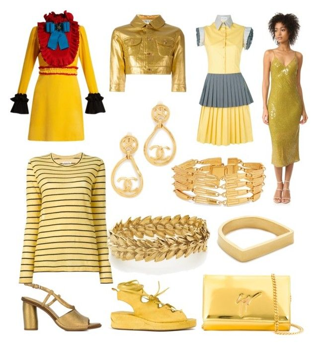 """Yellow World"" by donna-wang1 ❤ liked on Polyvore featuring Gucci, Diane Von Furstenberg, Roberto Del Carlo, MASNADA, Comme des Garçons, Giuseppe Zanotti, Étoile Isabel Marant, Aurélie Bidermann, Maya Magal and Daizy Shely"