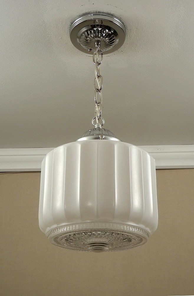 antique lighting fixtures for home. vintage 1930-50\u0027s antique american art deco retro glass globe \u0026 chrome pendant ceiling light lighting fixtures for home :
