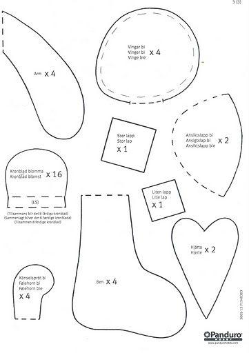 Bi Och Blomma Pattern 4