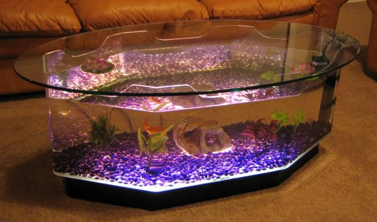 New Coffee Table Aquarium Long Octagon Fish Tank Kids Or