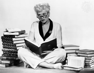 Seriously, if you haven't seen Born Yesterday with Judy Holliday (NOT the Melanie Griffith version), do yourself a favor and watch it.  Great movie!