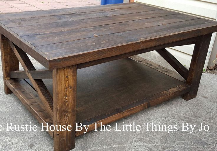 Coffee Table done in Jacobean stain.