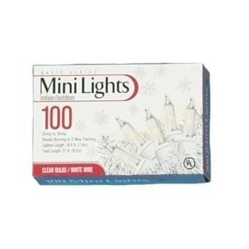 100 Mini Lite UL Clear Light With Green Wire Case Pack 24 100 Mini Lite UL Clear Light With Green W by DDI. $463.50. Picture may wrongfully represent. Please read title and description thoroughly.. Brand Name: DDI Mfg#: 379109. This product may be prohibited inbound shipment to your destination.. Shipping Weight: 25.00 lbs. Please refer to SKU# ATR5629313 when you inquire.. 100 Lite UL Clear Lights with Green Wire. For indoor or outdoor use, for Christmas light...