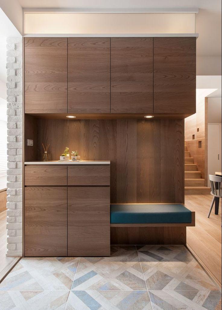ideas para forrar puertas de armarios empotrados con vinilo acabado madera
