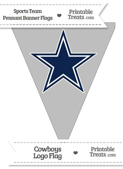 Dallas Cowboys Pennant Banner Flag from PrintableTreats.com