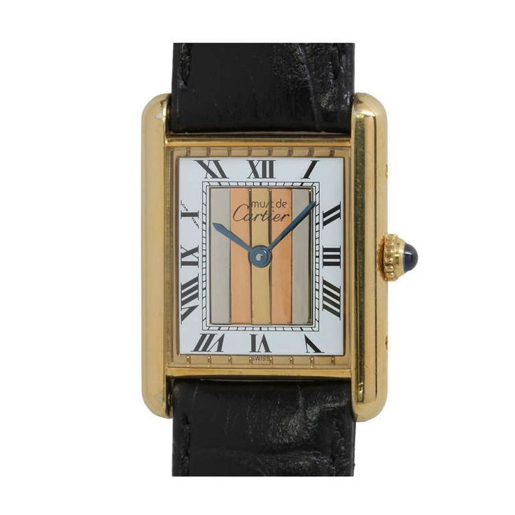 The Cartier Tank has always been a favorite of mine - a classic through and through - one of these days......  Cartier Man's Gilt Silver Tank Louis Must de Cartier Wristwatch circa 1990s   From a unique collection of vintage wrist watches at http://www.1stdibs.com/jewelry/watches/wrist-watches/