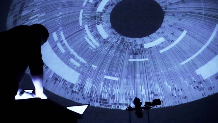 trippyvisualizations projected onto a planetariumdome fill us with childlike wonderment
