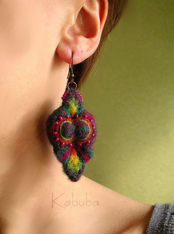 Handmade earrings. Fair Masters - handmade earrings felt different :). Handmade.: