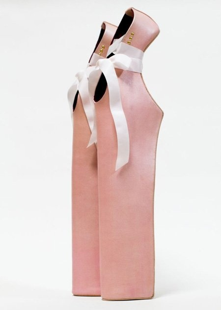 Noritaka Tatehana's 18-inch Lady Pointe ballet slippers. #shoes  <> Repined @kimludcom