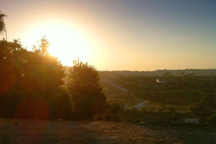A beautiful morning sunrise today on #MijasGolf #CostaDelSol