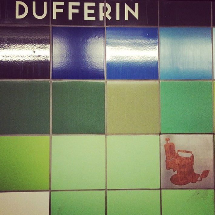 Closest stop to the shop.  #TTC #subway #DufferinStation #toronto by hollowgroundbarbershop