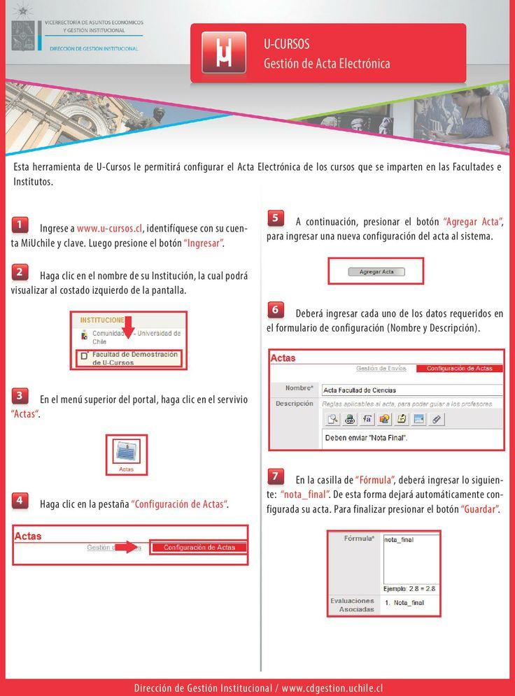 U-Cursos.Gestión de Acta Electrónica. Para ver la versión web visite http://www.dgi.uchile.cl/implantacion/manuales/ucursos/guia_u_cursos_gestion_acta_electronica_v1.2_2014.05.26.pdf