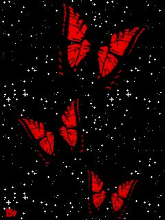 Tres Mariposas rojas