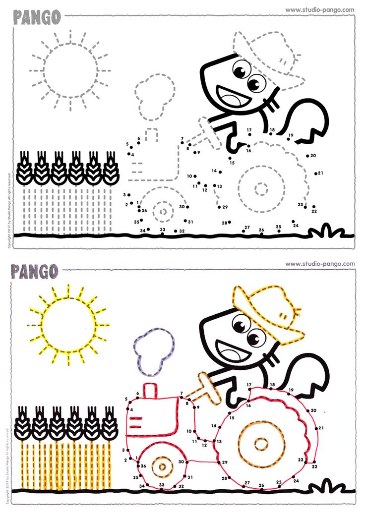 Tractor - Connect the dots #nombres à relier #count #draw