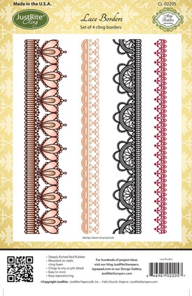 JustRite Stampers - Lace Borders