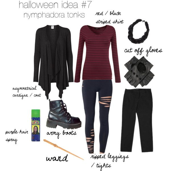 a last minute put together halloween costume inspired by nymphadora tonks - Cute Halloween Costumes For School