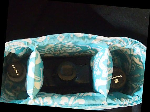 DSLR Camera Bag Inserts  Camera Purse Organizer  by StrappyStyles