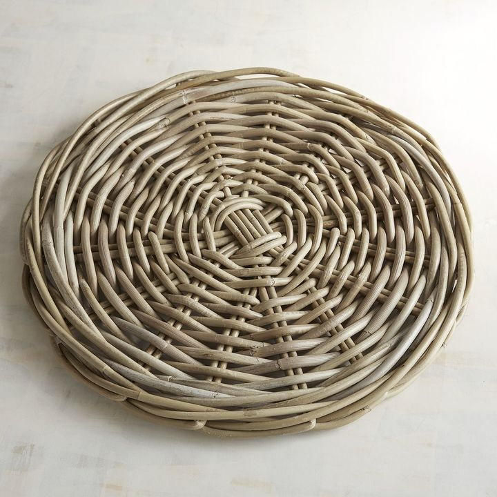 Pier 1 Imports Natural Wash Rattan Round Placemat