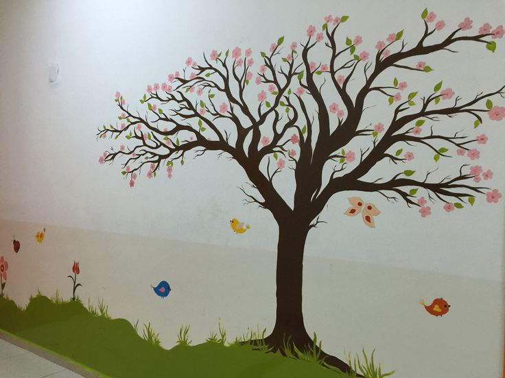 Duvar resmi Ağaç Yağlıboya