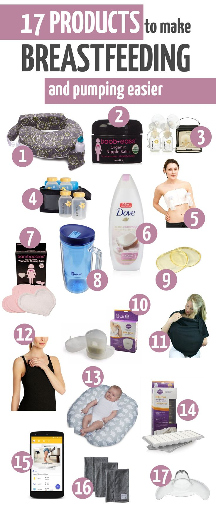 Products to help make breastfeeding easier - Tools for Breastfeeding - What to register for when planning to breastfeed